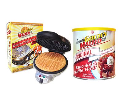 Enjoy Golden Malted Waffles at Home